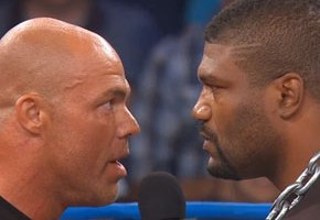 Rampage Jackson Makes TNA Wrestling Debut, Stares Down Kurt Angle
