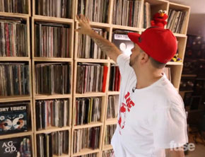 DJ Tony Touch Shows Off Viny Collection (Video)