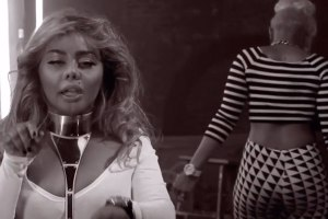 Lil Kim and Tiffany Foxx at 2013 BET Hip-Hop Awards Cypher