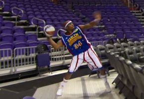 Harlem Globetrotter Sets Longest Shot Record