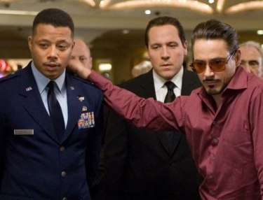 Terrance Howard and Robert Downey Jr.