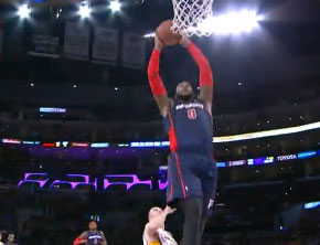 NBA Ballin: Brandon Jennings Sets Up Andre Drummond Dunk