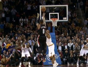 NBA Ballin: Damian Lillard Catches Fire In Cleveland
