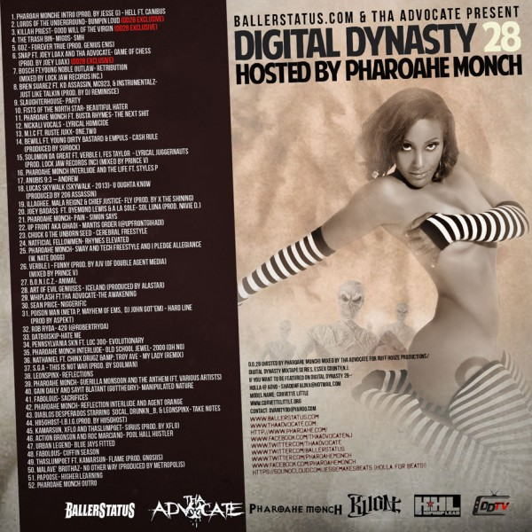 Digital Dynasty 28 (Hosted By Pharoahe Monch) (Mixtape) - Back