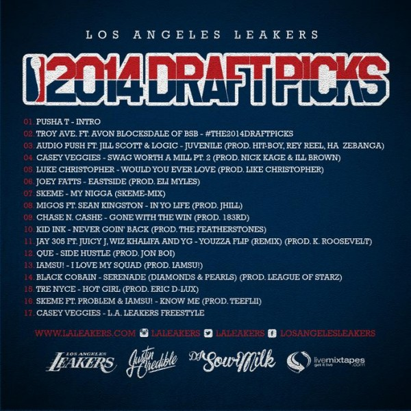 Download: L.A. Leakers - 2014 Draft Picks (Mixtape) - Back