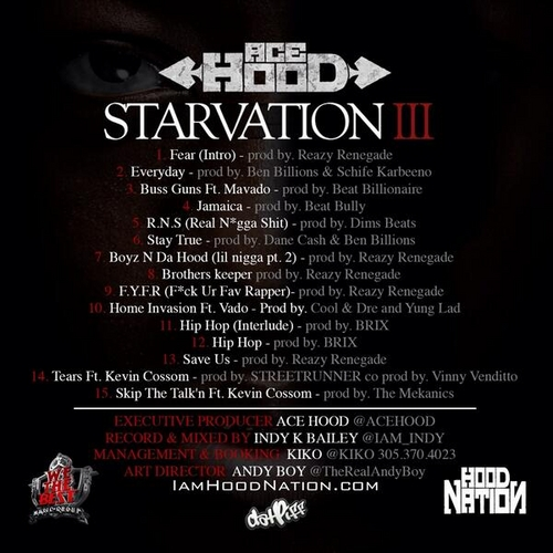 Ace Hood - Starvation 3 (Mixtape) - Back