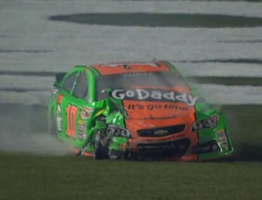 Danica Patrick's Daytona 500 Day Ends With Crash