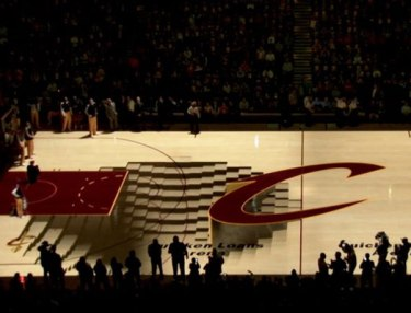 Cleveland Cavaliers' 3D Floor Projection Presentation