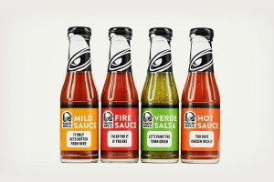 Taco Bell bottled hot sauces