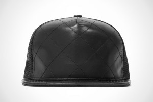 Stampd Quilted Leather Trucker Hats