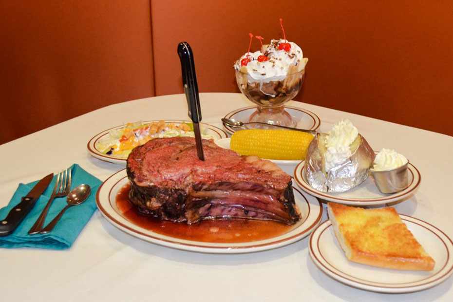 Jerry's Nugget Casino - Double Cut Prime Rib meal