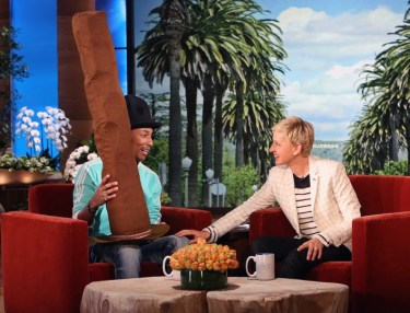 Ellen Gives Pharrell A New Hat