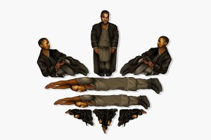 Kanye West As Adidas' Trefoil Logo By Mike Frederiqo