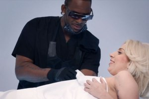 Lady Gaga and R. Kelly in DO WHAT U WANT video.