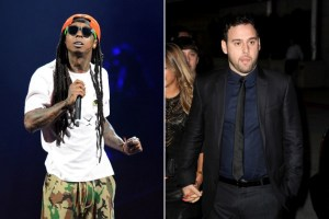 Lil Wayne and Scooter Braun
