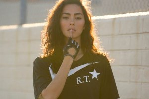 Adrianne Ho Models Nike + R.T. Air Force 1 Black Collection