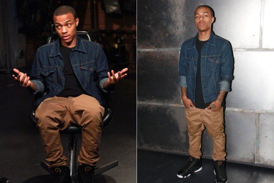 Bow Wow recently wearing a Levi's Trucker jacket