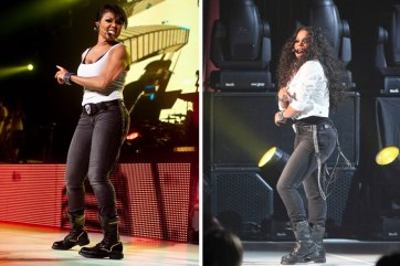 "Janet Jackson rocked a pair of Levi's Bold Curve ID skinny jeans in Liquid Black multiple times during her ""Number Ones: Up Close and Personal"" tour in 2011."
