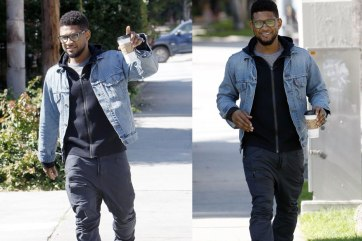 Usher spotted wearing a Levi's Trucker Jacket.