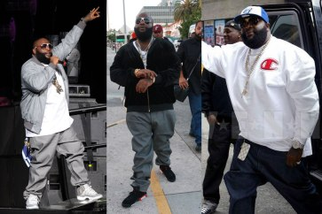 Rick Ross is regularly seen rocking Levi's 501 jeans.