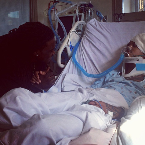 August Alsina in the hospital