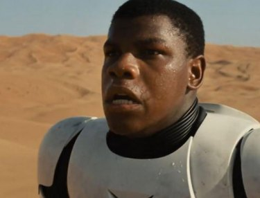 Actor John Boyega as black Stormtrooper