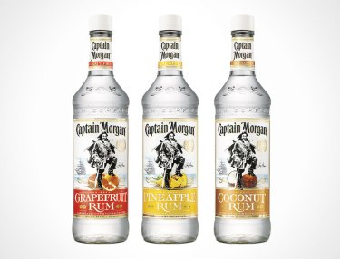 Captain Morgan Pineapple Rum, Coconut Rum and Grapefruit Rum