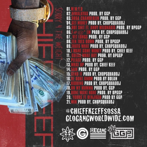 Chief Keef - Sorry 4 The Weight (Mixtape) - Back