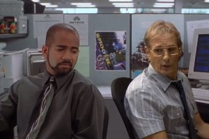 Office Space With Real Michael Bolton