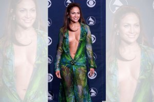 Jennifer Lopez at the 2000 Grammys in her Versace dress.