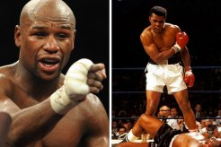 Floyd Mayweather and Muhammad Ali