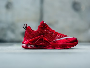 Nike LeBron 12 Low Premium 'University Red'