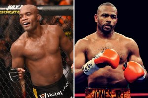 Anderson Silva and Roy Jones Jr.