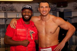 Jonathan Banks and Wladimir Klitschko