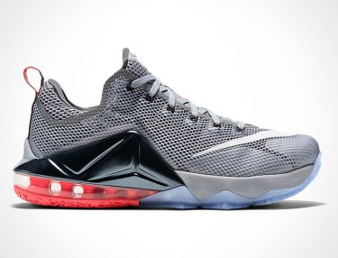 Nike LeBron 12 Low 'Wolf Grey/Black'