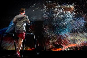 Nike x FIELD Interactive Running Installation 'Force Of Nature'