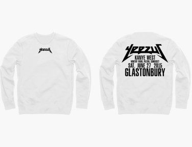 Kanye West 2015 Glastonbury Festival Merch