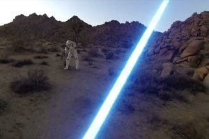 First-Person View Of A Jedi Via GoPro