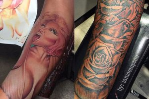 Safaree Covers Up Nicki Minaj Tattoo