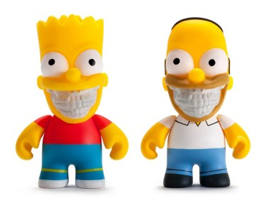 Ron English x Kidrobot Bart & Homer Simpsons Figurines