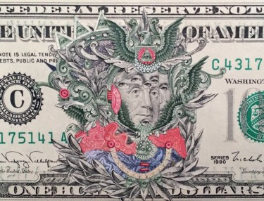 Stunning $100 Dollar Bill Collage