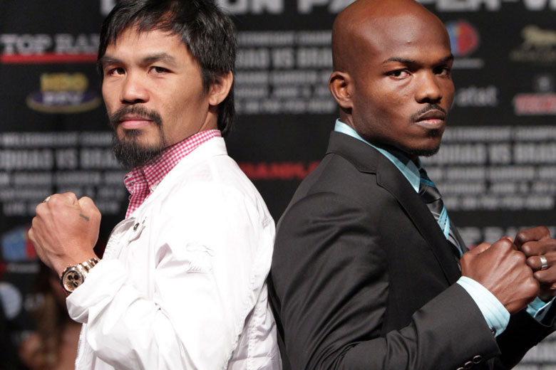 Manny Pacquiao and Timothy Bradley