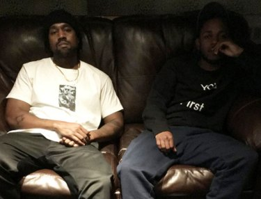 Kanye West Hits Studio With Kendrick Lamar, Swizz Beatz