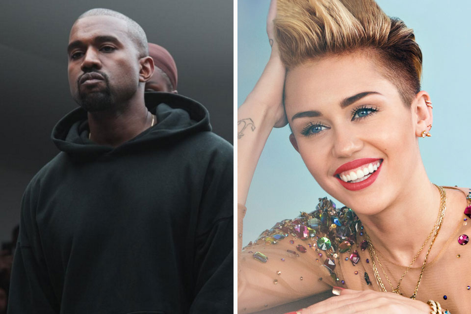 Kanye West and Miley Cyrus