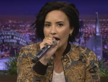 Demi Lovato Does Awesome Fetty Wap Impression