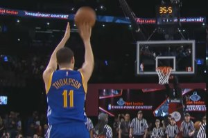 Klay Thompson Wins 2016 Three-Point Contest
