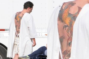 Ben Affleck Phoenix Back Tattoo