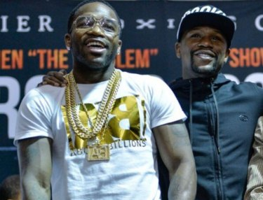 Adrien Broner and Floyd Mayweather