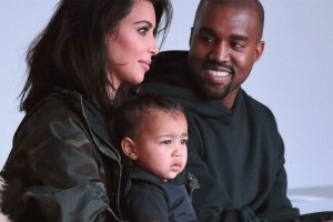 Kanye West, Kim Kardashian West and North