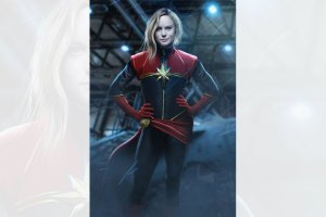 Brie Larson as Captain Marvel by BossLogic